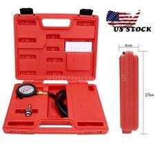 Exhaust Back Pressure Tester Set Pressure 2.5'' Diameter Gauge Sensor Car Kit US
