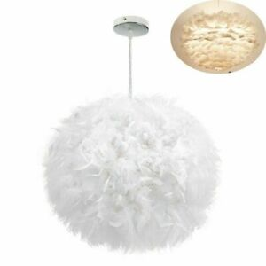 40cm Ceiling Light Lampshade Feather Pendant Shade Morden Bedroom Nordic Style