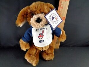 """CLEAVELAND INDIANS MLB DOG PLUSH STUFFED TOY 9""""H NEW WITH TAG Baseball Doll"""