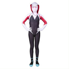 Spider-Man: Into the Spider-Verse Gwen Stacy Kids Jumpsuit Costume Cosplay