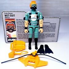 GI Joe Vintage Wet Suit v1 Complete w file card Hasbro 1986 HIGH GRADE wetsuit