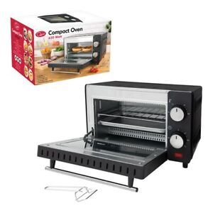 650W MINI ELECTRIC OVEN GRILL TOASTER BLACK COUNTER TABLE TOP COMPACT CARAVAN