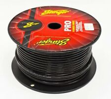 8 GAUGE AMPLIFIER POWER CABLE STINGER OFC 10MM2 BLACK PER METRE