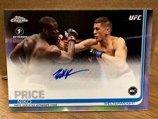 "2019 Topps UFC Chrome Niko Price Auto RC -  1st Autograph - ""On Card"" Signature"