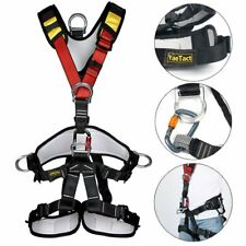 Professional Climbing Rappelling Rescue Full Body Safety Belt Harness US SHIP