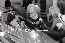 "9x6 Photograph, Francois Cevert with ""Female Companions"" Portrait 1973 GP Season"