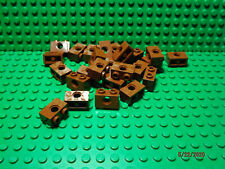 * 25 Ct Lot * Lego New reddish brown 1 x 2 modified with side hole bricks