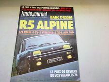"""REVUE  """" L' AUTO JOURNAL """" N° 6  ANNEE 1976  *"""