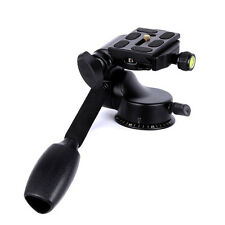 Pro Tripod Ball Head Rocker Arm with Quick Release Plate for DSLR Camera NEW