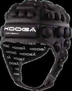 KooGa Dunedin Airtech Loop 2 Junior Rugby Headguard Black Small Medium Boy