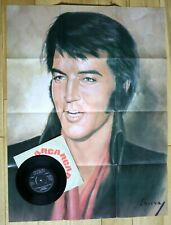"NM ELVIS PRESLEY GREEN GREEN GRASS OF HOME POSTER SLEEVE RCA 4050 P/S 7"" 45"