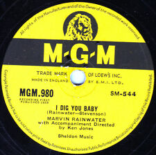 1958 UK #19 MARVIN RAINWATER 78 I DIG YOU BABY / TWO FOOLS IN LOVE MGM 980 V+/E-