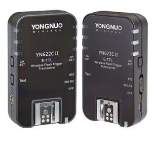 Yongnuo YN622C II YN622 YN622C TTL Wireless Flash Trigger 2 Transceivers f Canon