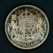 1947 Curved 7 Canada 50 Cents - Nice Silver Half Dollar
