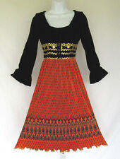 VINTAGE 1960s MOD JERAND'S JERSEY GIRL DRESS BLACK VELVET SOUTACHE MEDALLIONS