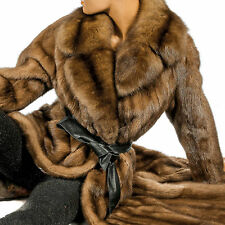 L Nerzmantel Zobel Pelzkragen Pelz Mink fur coat Pelzmantel mink fur coat sable