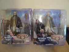 Neca Bioshock Infinite Patriot George Washington & Benjamin Franklin Figures BN