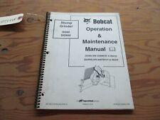 BOBCAT SG60/SGX60 STUMP GRINDER OPERATION AND MAINTENANCE MANUAL