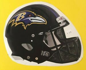 """Baltimore Ravens FATHEAD NFL Team Helmet Graphic 9"""" x 11"""" Licensed Wall Decal"""