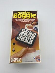 Parker Brothers Vintage Number Boggle Game Complete