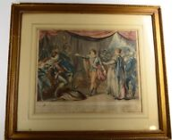 The Heroism of Prince Edward, son of Henry VI 18th Century Etching Colored Print