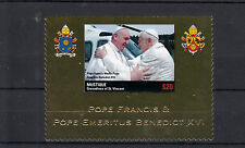 Mustique Grenadines 2013 MNH Pope Francis Meets Pope Emeritus Benedict 1v Gold