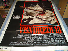 AFFICHE   HORREUR / VENDREDI 13 / FRIDAY THE 13th