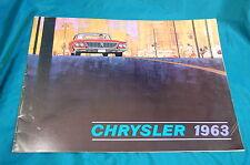 1963 Chrysler Advertising Brochure New Yorker Newport