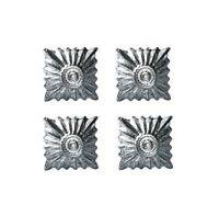 Large Silver Rank Pip - WW2 Repro German Badge Insignia Uniform New Set of 4