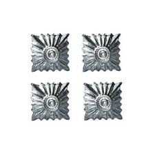 große silber Rang Pip - WW2 Reproduktion deutsche Abzeichen Uniform NEU 4er Set