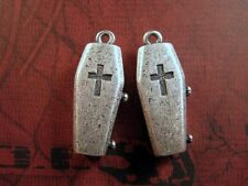 Oxidized Silver Plated Coffin Casting Charm (2) - SOSGK530