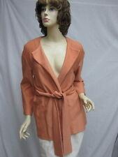 St John Knit NWT Mandarin Orange Jacket & Belt SZ 6 8 RT $895