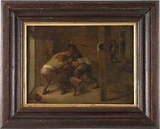 Antique Dutch Old Master oil on panel painting, School of Adriaen van Ostade (16