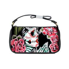 Rockabilly Lolita Goth Sugar Skull Gypsy Tattoo Small Shoulder Clutch Purse Bag