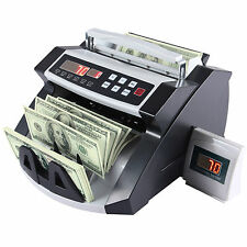 Money Bill Cash Counter Currency Counting Machine Bank UVMG Counterfeit Detector