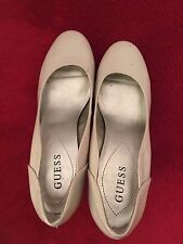 Ladies high heel shoes-GUESS (genuine) -nude size 6