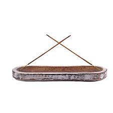 "Mango Wood - Incense Stick Holder Waxed Incense Burner Ash Collector 11"" Long"