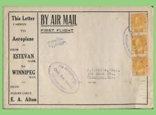 Canada 1924 First Flight Cover, Estevan (Sask.) - Winnipeg (Man.)