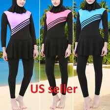 Muslim Swimsuit connected Modest 2 pcs Hijab Burkinis for women