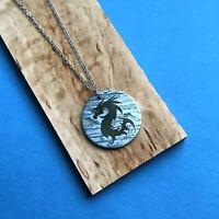 Seymchan Meteorite Dragon necklace, meteorite pendant