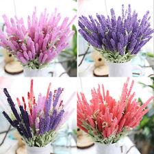 12 Heads Lavender Bouquet Silk Flowers High Simulation Home Party Charm Decor