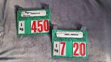 2 ancienne étiquettes de prix vente fruits et légumes en francs.