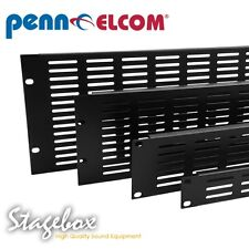 Penn Elcom 1U Slotted Vent Rack Panel