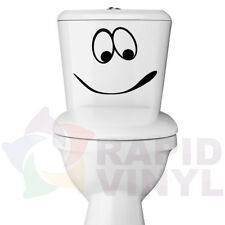 Smiley Face Vinyl Decal for Toliet Bowl or Seat