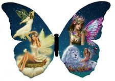 Butterfly With Fairies Art Work A4 Photo Poster Print ONLY Wall Art, Art Deco