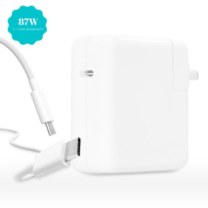 87W USB-C Power Adapter Charger for MacBook Pro, MacBook Air, and iPad Pro