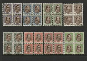 IRAQ. 1942 issue from Album collection mint 8 Blocks of 4