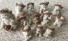 Lot of 12 Dreamsicles Cast Art Cherub Angel Figurines Signed by Kristin