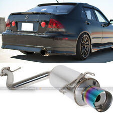Fit 01-05 IS300 XE10 Stainless Steel Bolt On Axle back Exhaust Muffler Green Tip