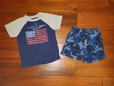 Boys Polo Ralph Lauren USA Shirts Blue Camo Shorts Clothes Set 2T 24 Months Lot